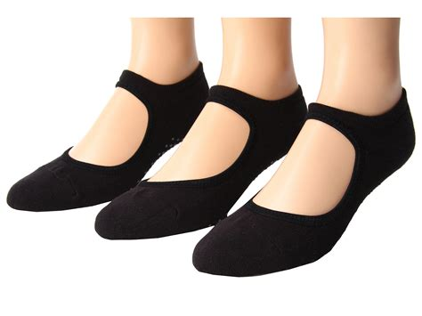 grip socks ballet grip sock 3 pair pack black shipped free at zappos