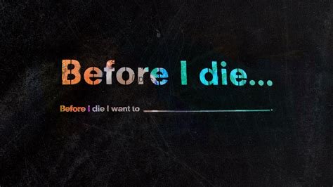A To Die For before i die i want to church sermon series ideas