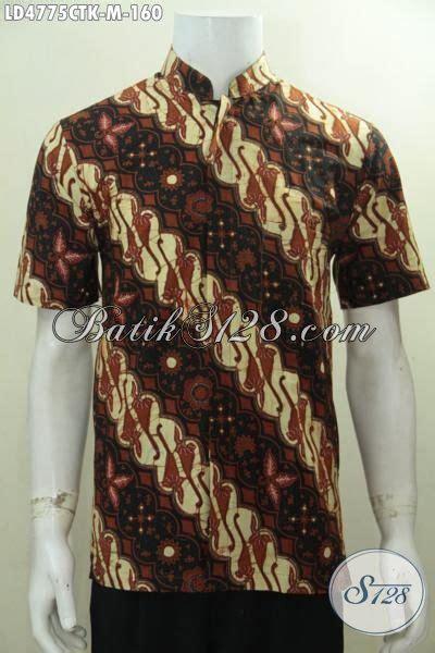 Hem Batik Shanghai hem batik klasik model kerah shanghai busana batik lengan