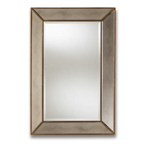baxton studio 24 inch x 36 inch lessie wall mirror in gold