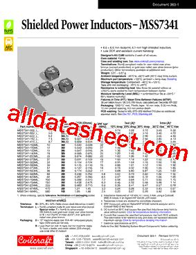 coilcraft inductors datasheet mss7341 datasheet pdf coilcraft lnc