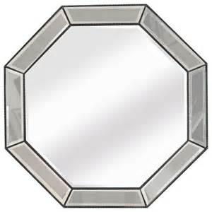octagon bathroom mirror bassett mirror beaded octagon wall mirror m3450b