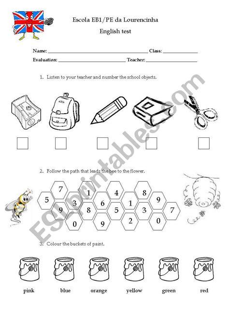 1st grade test esl worksheet by figas