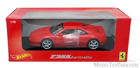toy ferrari model cars ferrari f355 berlinetta red mattel wheels bly57 1