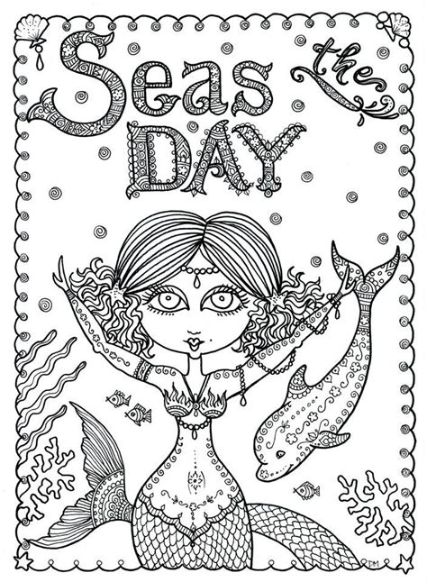 printable zentangle legend 447 best images about mermaids to color on pinterest