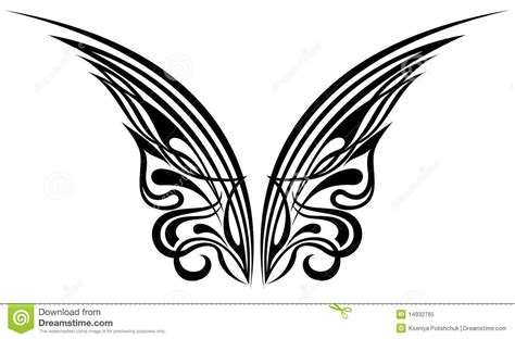wings tattoo design elements stock vector illustration