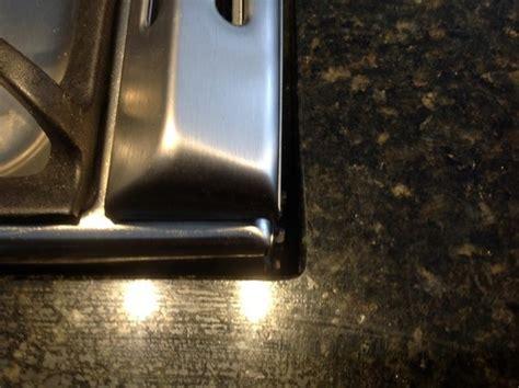 cabinet gap filler poor stove countertop fit