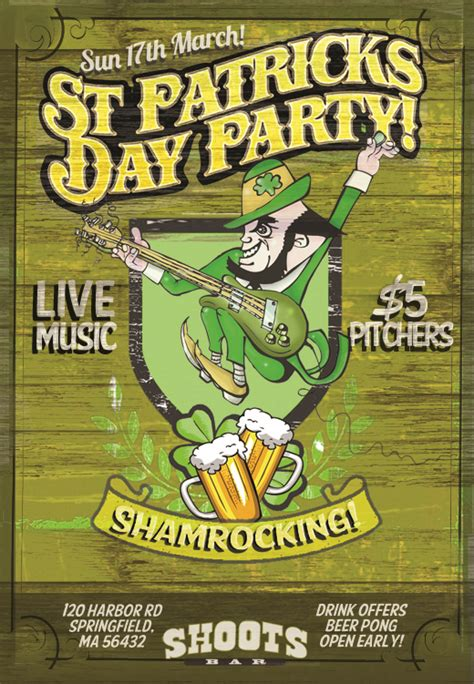 St Patricks Template3 Nextdayflyers Next Day Flyers Templates