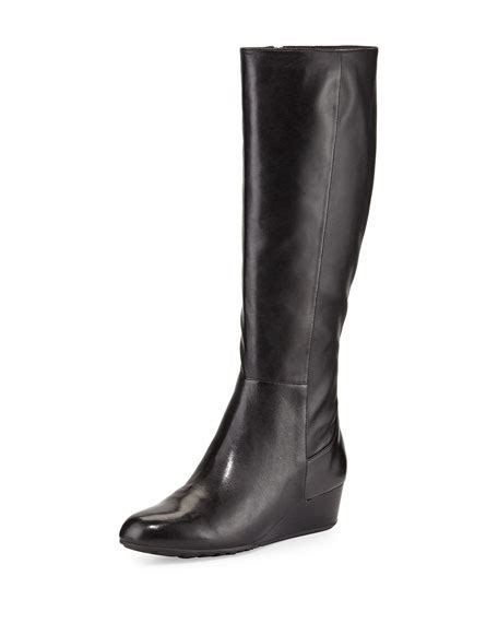 leather boot tali cole haan tali leather boot black neiman