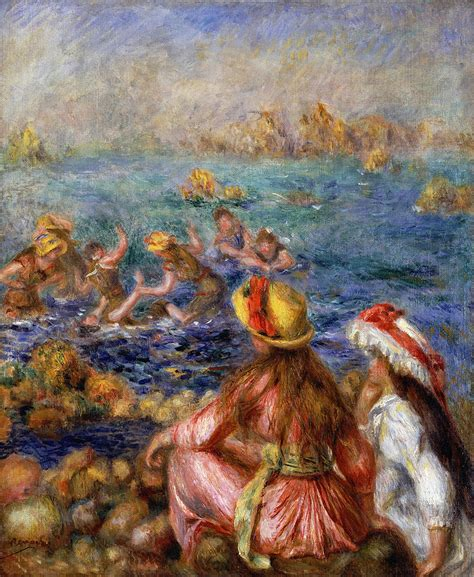 Home Decor Industry by The Bathers Painting By Pierre Auguste Renoir