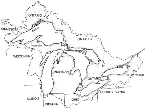 great sheets basin map of the great lakes the great lakes basin map