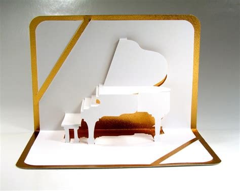 pop up grand piano 3d pop up card origamic architecture home