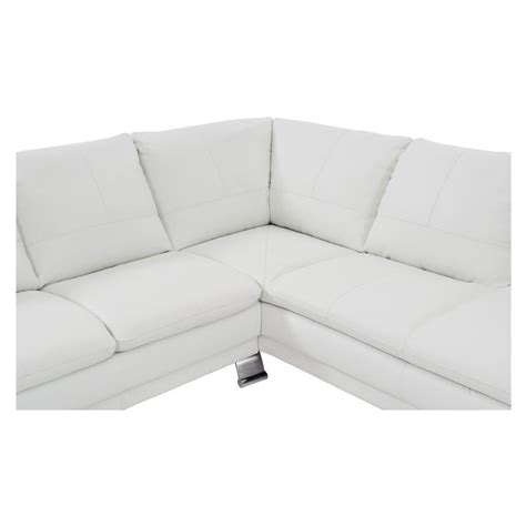 white leather sofa with chaise white leather sofa w right chaise el dorado furniture