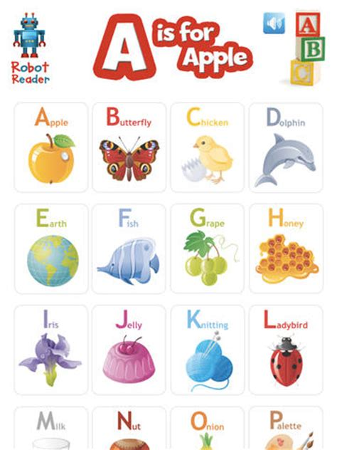 for a a is for apple robot reader abc s on the app store