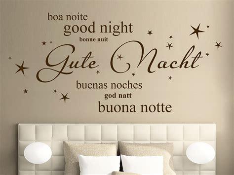wandtatoo schlafzimmer wandtattoo gute nacht in verschiedenen sprachen