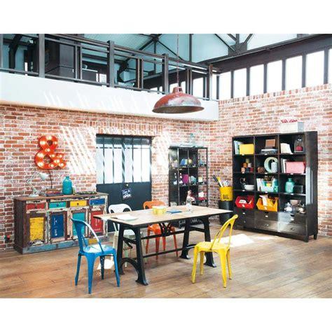 edison libreria libreria nera stile industriale in metallo edison
