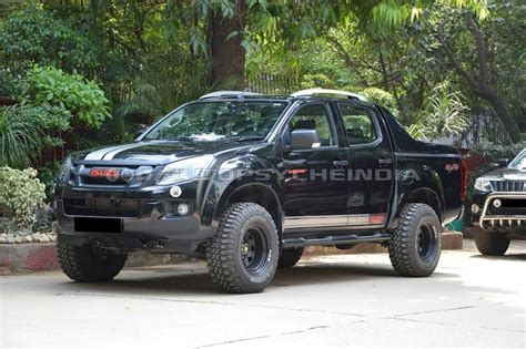 isuzu dmax lifted customised isuzu d max v cross will scare you instantly