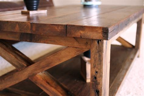 white rustic x coffee table diy projects