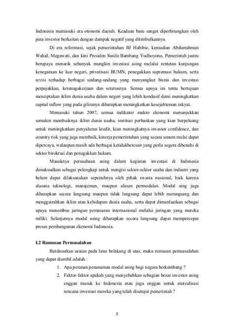 Hukum Penanaman Modal Asing penanaman modal asing dalam rangka investasi di indonesia