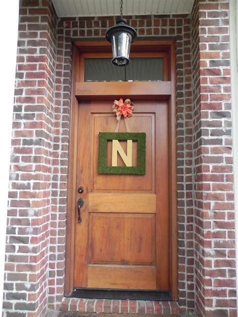 Square Front Door Monogram Wreath For The Home Pinterest Front Door Initials