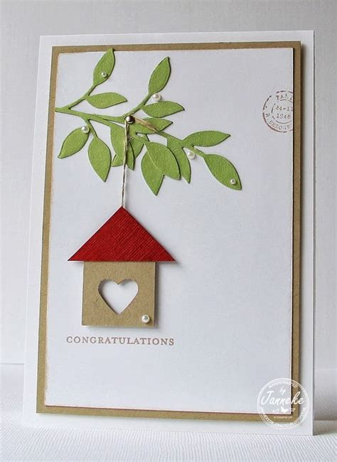 New Home Handmade Card Ideas - new homes new home cards and congratulations card on