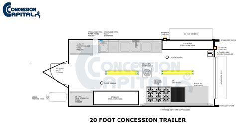 concession trailer floor plans floorplans