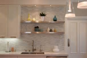 white horizontal tile backsplash kitchen ideas black granite countertops