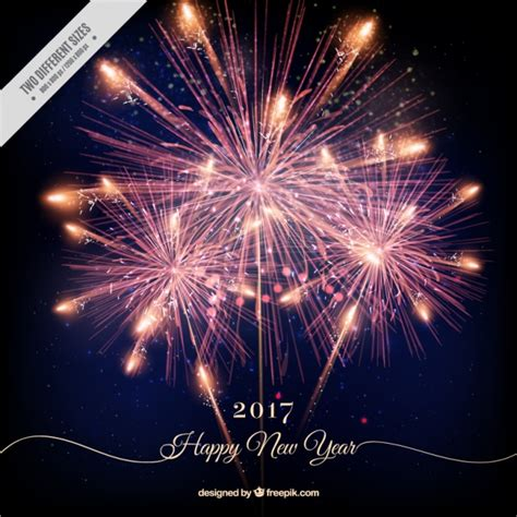 when is new year happy new year background with shiny fireworks vector