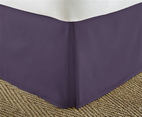 purple bed skirt wholesale soft essentials premium pleated bed skirt dust