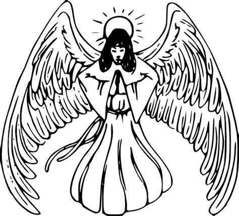 tattoo angel vector black angels praying clipart clipart suggest