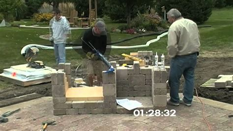 outdoor fireplace construction time lapse