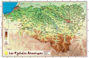 Pyrenees Atlantiques Georelief Poster 9782361680473