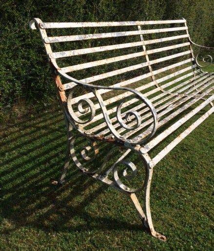 antique wrought iron garden bench antique victorian strap work 6 ft wrought iron garden