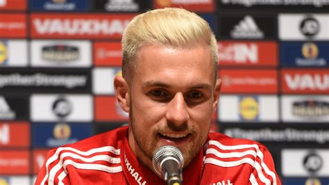 aaron ramsey bleaches hair for wales euro 2016 caign rugby fan aaron ramsey urges wales to recapture wembley