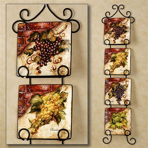 decorative kitchen wall plates wine cellar square dessert plate set