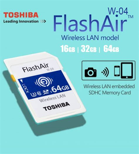 Toshiba Flashair Wireless Sd Card 16gb Class 10 Garan Diskon toshiba flashair iv 4 wifi wireless lan sdhc memory sd