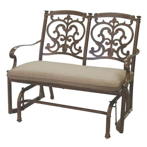 glider bench cushions darlee santa barbara patio glider bench with sesame seat