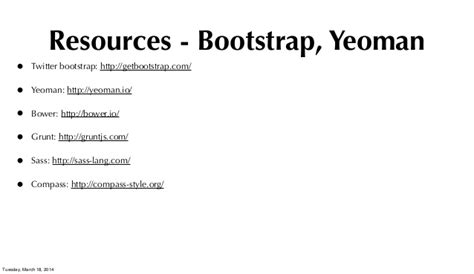 yeoman tutorial bootstrap nova mean why the m in mean is a significant contributor