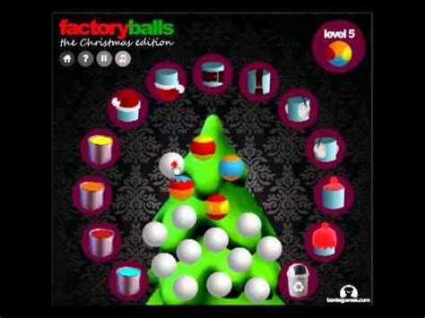 factory balls christmas edition levels 1 8 youtube