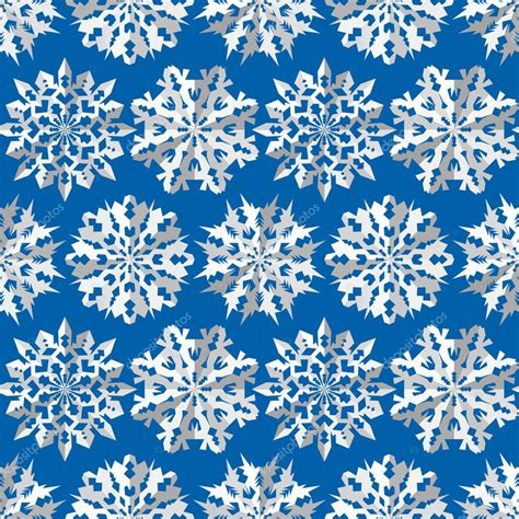 Origami Snowflake Pattern - seamless pattern origami snowflakes signs