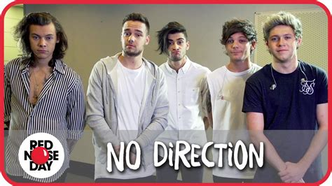 one direction red nose day no direction spoof one direction for red nose day youtube