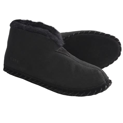 mens bootie slippers shop acorn sheep bootie slippers sheepskin for save 62