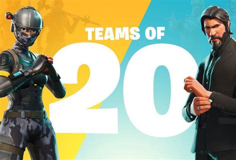 what fortnite team is on fortnite countdown teams of 20 release date start