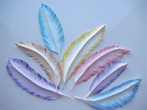 Feathers Out Of Paper - paper feathers create