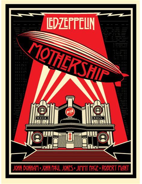 led zeppelin s mothership artwork by shepard fairey