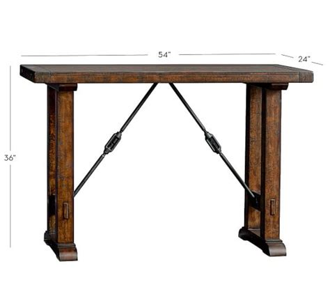 Barn Dining Room Table benchwright bar height table pottery barn