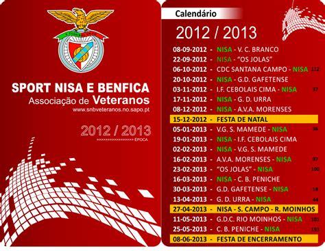 Calendario Benfica Veteranos Sport Nisa E Benfica Calend 225 2012 2013