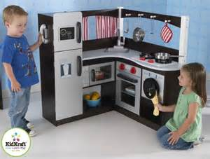 kidkraft grand espresso corner kitchen 5 wooden play kitchens that appeal to boys and