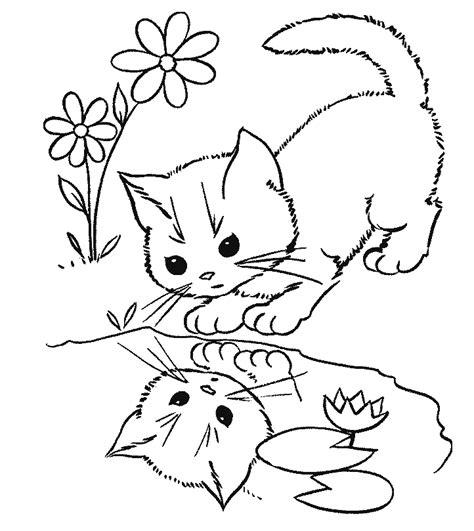 gambar mewarna kucing