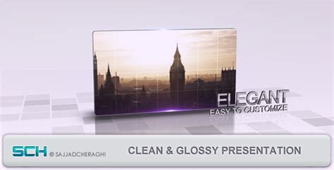 after effect slideshow template clean glossy presentation by vidnoadesign videohive